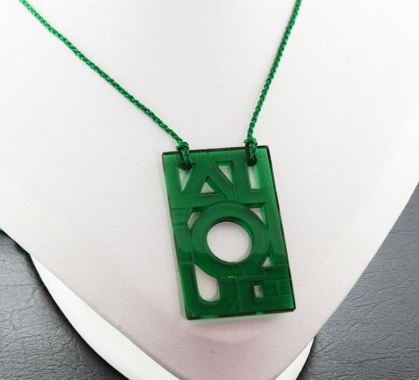 2: Lalique Crystal Pendant in Orginal Box - Emerald Gre