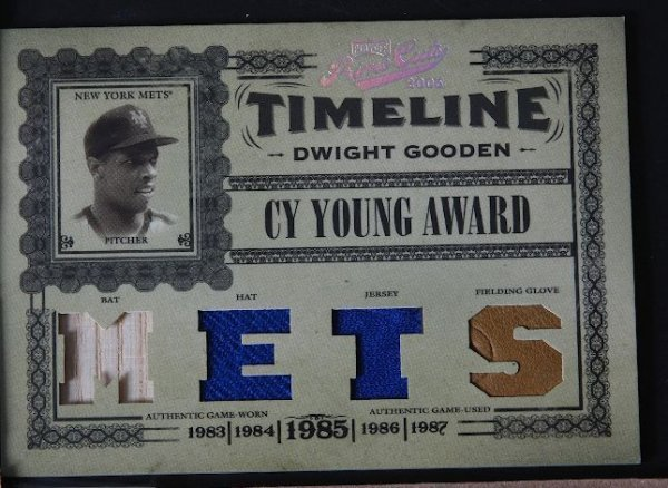 4: 2005 Prime Cuts Dwight Gooden Bat, Hat, Jersey & Glo