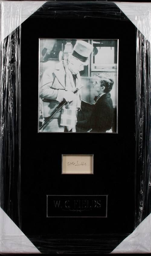 7: W.C. Fields Autographed Photo Display