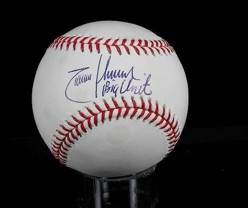 10: Randy Johnson Autographed Baseball