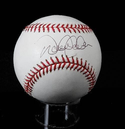 12: Derek Jeter Autographed Baseball