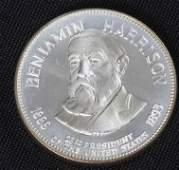 583: Benjamin Harrison 33.1gm. Sterling Silver Presiden