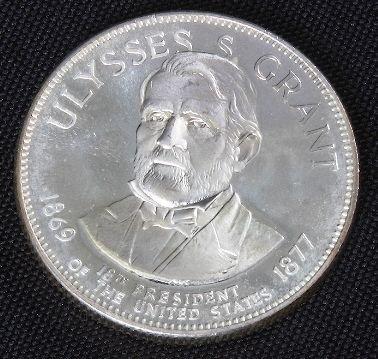 934: Ulysses S. Grant 33.1gm. Sterling Silver President