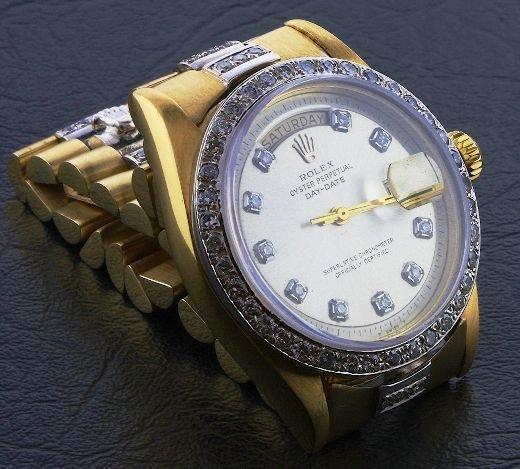 824A: Gents Rolex 18KT Gold Super President Style DayDa