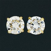 14k Yellow Gold 1.11 ctw Round Brilliant Cut Diamond