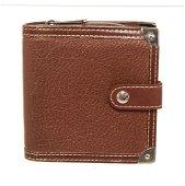 Louis Vuitton Brown Leather Compact Zippy Wallet
