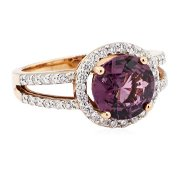 2.94 ctw Round Mixed Lavender Spinel And Round