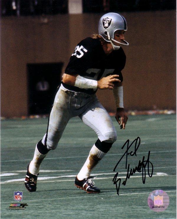 3: Fred Biletnikoff Autographed Raiders 8x10 Photo