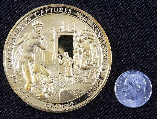 "14: ""Art of Michelangelo"" #44 24Kt Gold Plated Sterling"