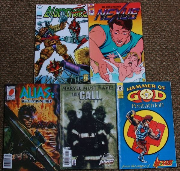 18: Collection of Vintage Comic Books (5) CB435
