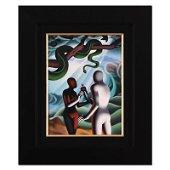 """Mark Kostabi, """"The Moment of Truth"""" Framed Original Oil"""