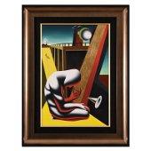 "Mark Kostabi, ""Gaining Perspective"" Framed Original Oil"