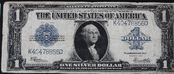 14: 1923 Washington $1 Silver Certificate Bill PM69