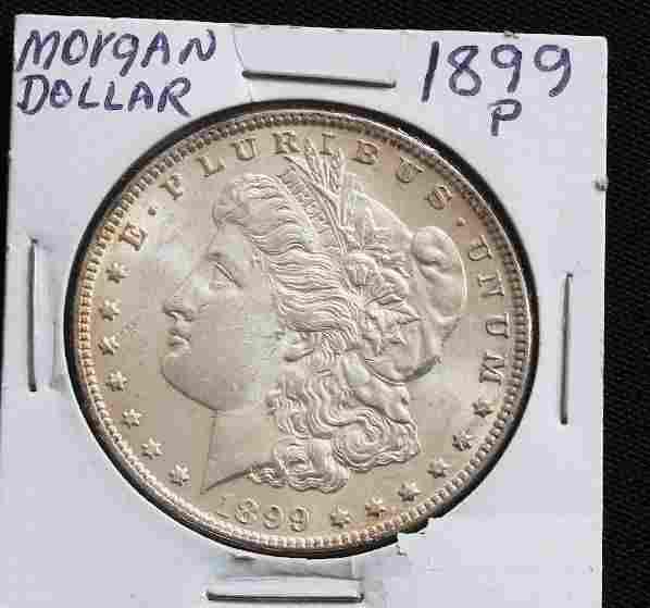 1899 Morgan Silver Dollar BU - JH290
