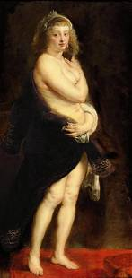 Sir Peter Paul Rubens - Helena Fourment in a Fur Robe
