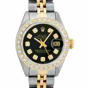 Ladies 26MM Datejust Black Diamond Oyster Perpetual 2T