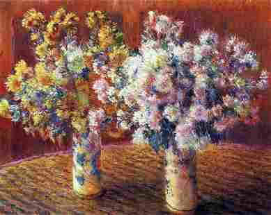 Claude Monet - Two Vases with Chrysanthemums