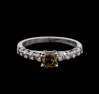 2.01 ctw Fancy Dark Brown Diamond Ring - 14KT White