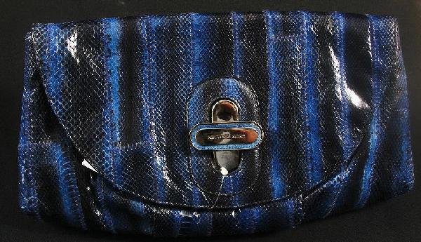 9: Templeton Geninue Watersnake Cluth Purse w/ Tags. Re