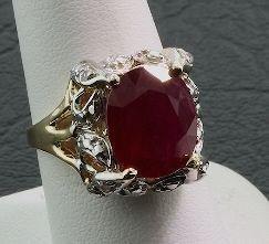 19: Ruby & Diamond Ring 8.30gm A43 Full Letter