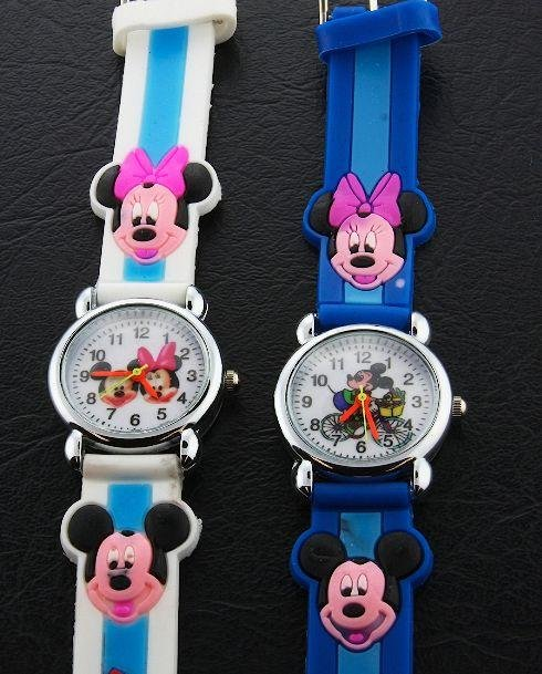 24: Lot (2) Mickey & Minnie Mouse Disney Watches #7
