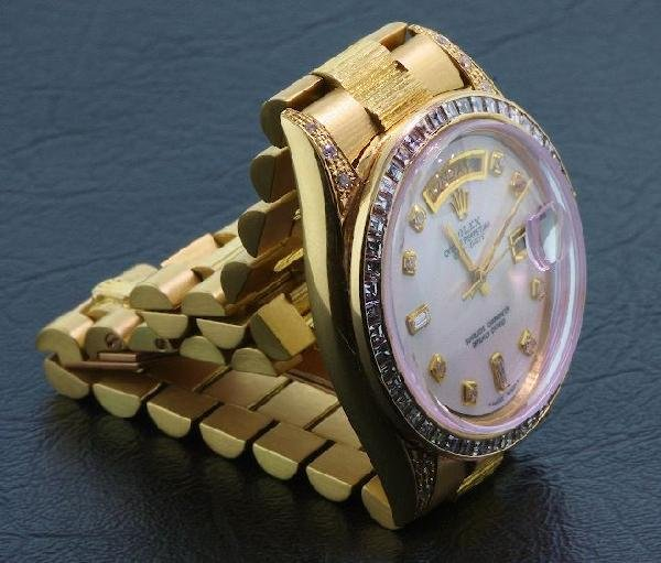 437: Gents Rolex 18KT Gold DayDate Wristwatch A194 FULL