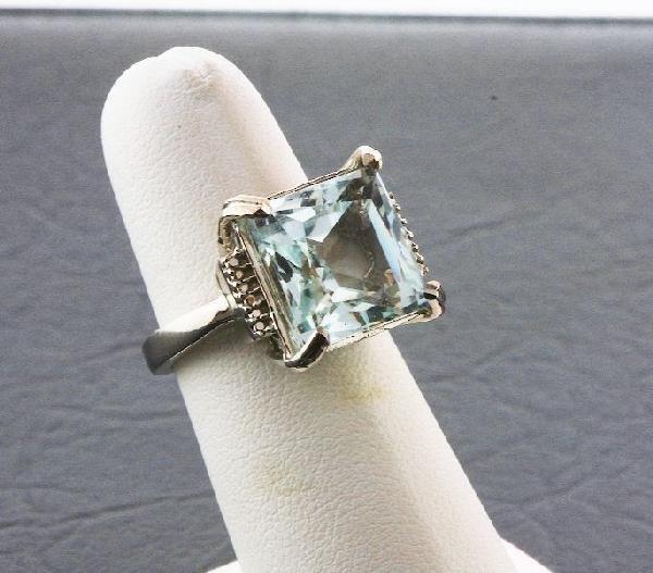 576: Aquamarine Ring 8.07 grams A203 FULL APPRAISAL