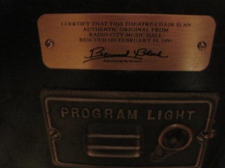 214: Vintage Theater Seats from Radio City Music Hall - 4