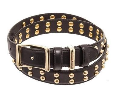 Marc Jacobs Black leather Studded Belt