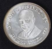 238: Dwight Eisenhower 33.1gm. Sterling Silver Presiden