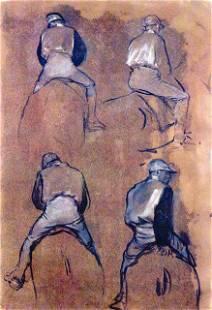 Edgar Degas - Four Studies Of Jockeys