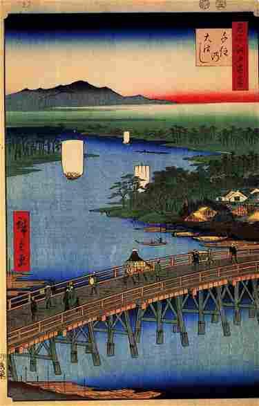 Hiroshige Senju Great Bridge