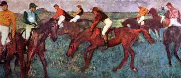 Edgar Degas - Before The Start