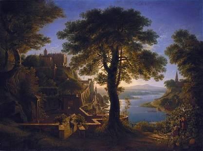 Karl Friedrich Schinkel - Castle by the River