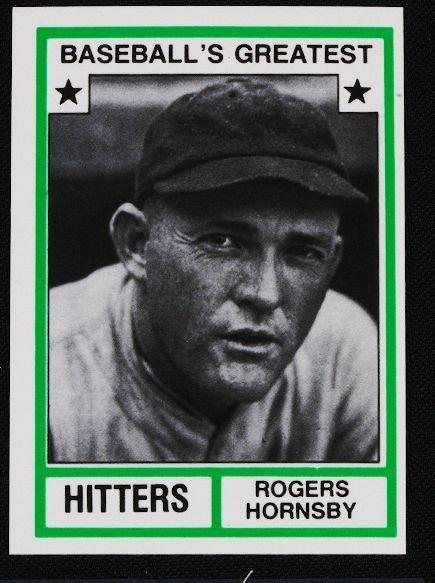 5: Vintage Baseball Card '83 TCMA Rogers Hornsby C100