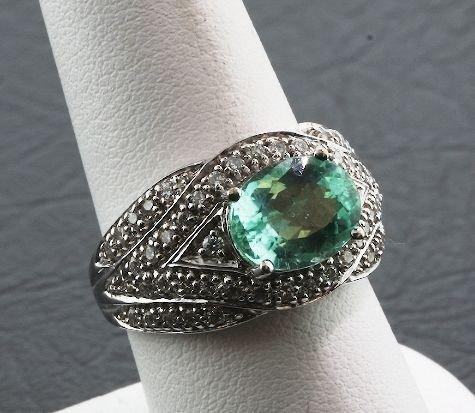 8: Paraiba Tourmaline & Diamond Ring A448 9.50 gm FULL