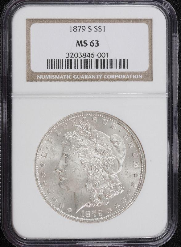 11: 1879-S Morgan Silver Dollar MS63 SCE335