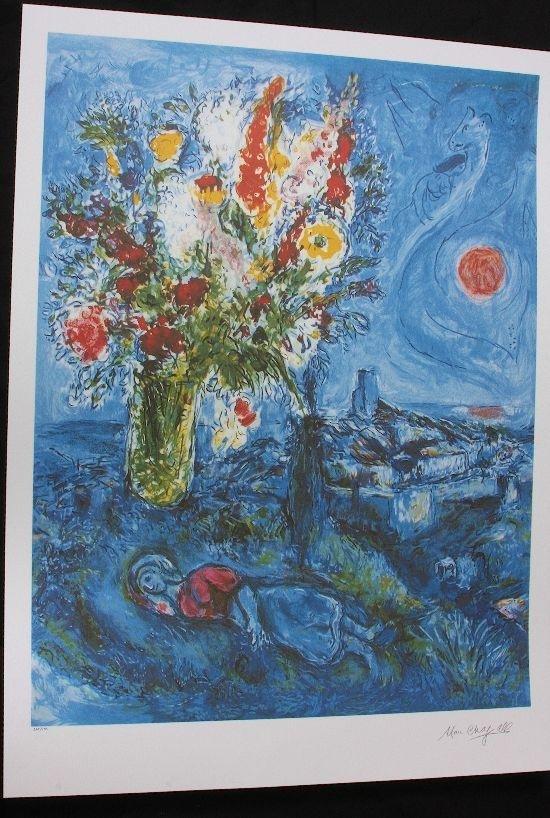 12: Marc Chagall - La Dormouse aux Fleurs - Print