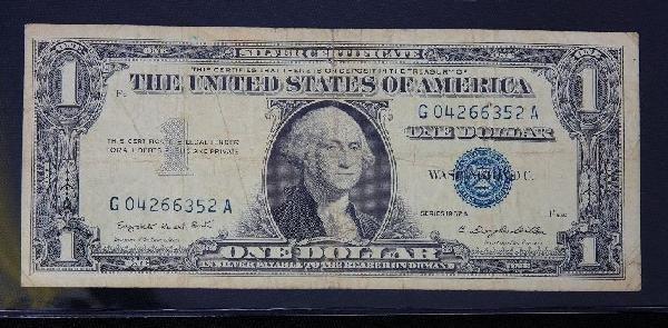 14: 1957 $1.00 Washington Silver Certificate PM1431