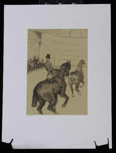 17: Toulouse-Lautrec - Le tandem -  Litho /350 - Rare