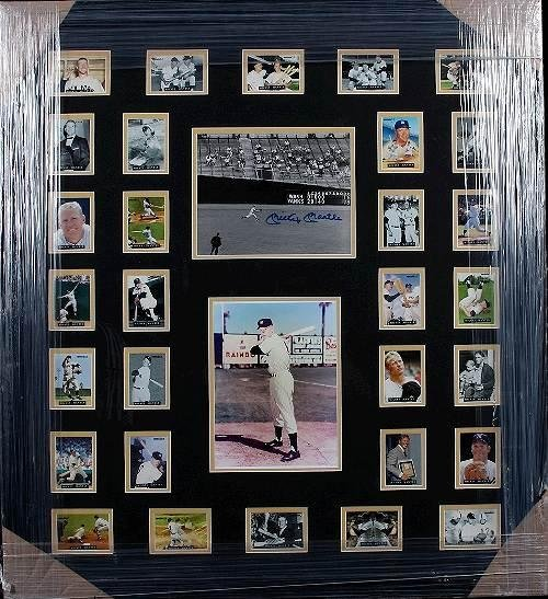 19: Mickey Mantle Autographed Cards Collage