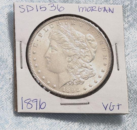 1896 Morgan VG+ Silver Dollar SD1536