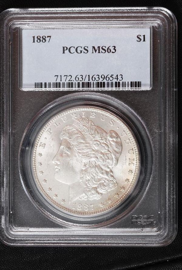 1887 Morgan Silver Dollar MS63 SCE298