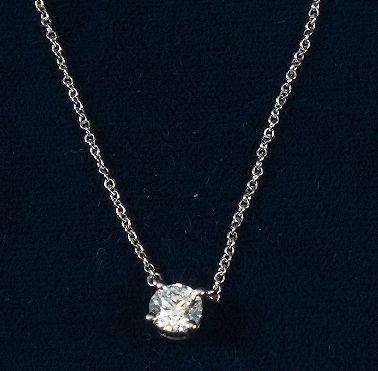 Tiffany & Co Platinum Diamond .5 ct Solitaire Pendant - 2