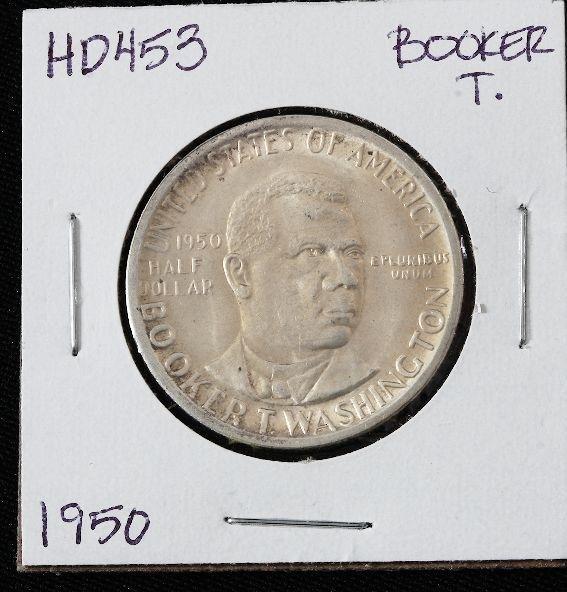 1950 Booker T. Washington Silver Half Dollar HD453