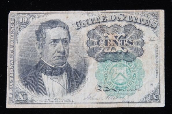 1874 Ten Cent Fractional U.S. Currency Note. FR#1264. P