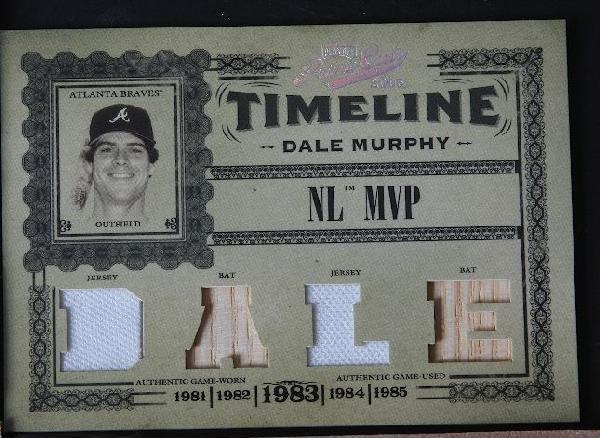 2005 Prime Cuts Dale Murphy Jersey & Bat Card 17/50 C54
