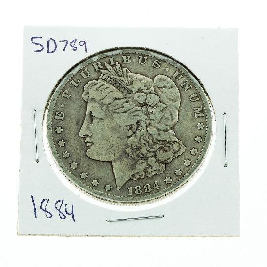 1884 Morgan Silver Dollar VG+ SD789