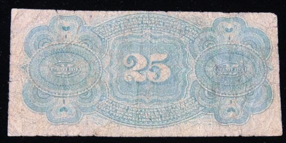 1863 25 Cents Fractional Currency U.S. Note. PM1697 - 2