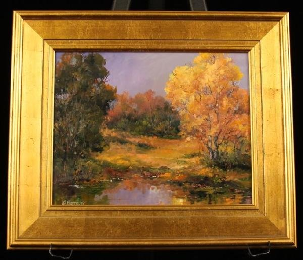 "Original Oil Painting ""Fall Yellow"" by D. Bottorff ED54"